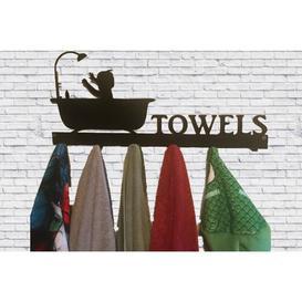 image-Towel Key Hook Happy Larry