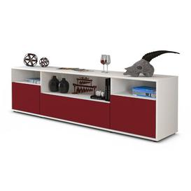 """image-Coppock TV Stand for TVs up to 42"""" Ebern Designs Colour: Red / Matte White"""