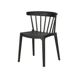 image-Bliss Outdoor Bar Chair in Black by Woood - SECONDS CLEARANCE STOCK