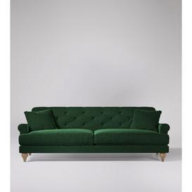image-Swoon Sidbury Three-Seater Sofa in Hunter Smart Wool With Short Light Feet