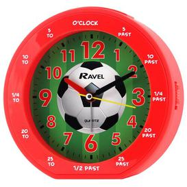 image-Football Childrens Alarm Clock Ravel Finish: Red