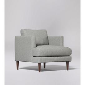 image-Swoon Tibur Armchair in Tan Smart Leather With Light Feet
