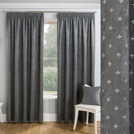 image-Feickert Block Out Ready Made Pencil Pleat Room Darkening Thermal Curtains Rosalind Wheeler Panel Size: Width 168 W x Drop 137cm, Colour: Grey