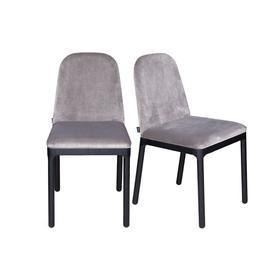 image-Heal's Ellie Dining Chair Taupe Velvet Black Ash Leg