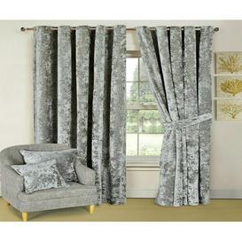image-Santiago Room Darkening Thermal Curtains Textile Home Panel Size: 228 W x 228 D cm, Colour: Silver