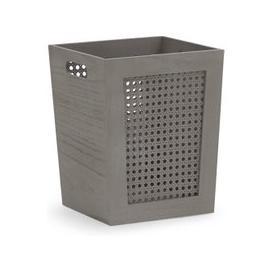 image-Cane Paper Grey Waste Paper Basket Grey