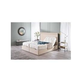 image-Vispring Sapphire II Adjustable Recliner De Luxe Mattress with Arcadia Headboard - Long Single 90 x 200cm - 3ft - No Drawers - No Fabric Charge