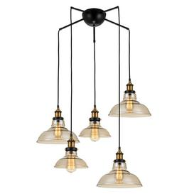 image-Holl 5-Light Cluster Dome Pendant Williston Forge