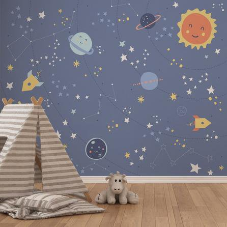 image-Little Space Mural Blue