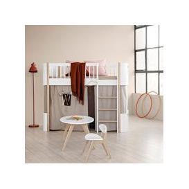 image-Oliver Furniture Wood Mini+ Kids Low Loft Bed in White & Oak