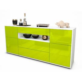 image-Drolet Sideboard Brayden Studio Colour: White/High-gloss green