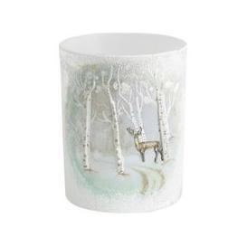 image-Libra Winter Scene with Reindeer Candle Holder - Xmas-18