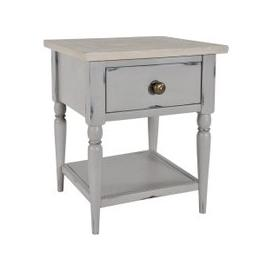 image-Rowico Dania French Grey Lamp Table With Drawer