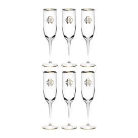image-Roberto Cavalli - Monogram Champagne Goblets - Set of 6 - Gold