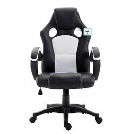 image-Swivel Gaming Chair Symple Stuff Colour (Upholstery): White