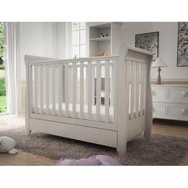 image-Eva Cot Bed BabyMore Colour: White