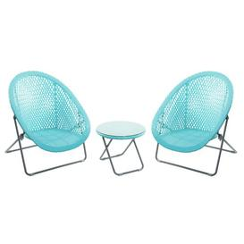 image-Carime 2 Seater Bistro Set Dakota Fields Colour (Table Top): Aqua
