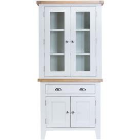 image-Hampstead Oak and White Painted 4 Door 1 Drawer Dresser