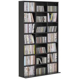 image-Argos Home Jorvik DVD and CD Storage Unit - Gloss Black