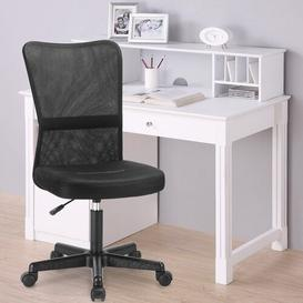 image-Mesh High Back Executive Adjustable Swivel Office Chair Lumbar Support Computer Desk Chair (Black)