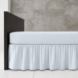 image-Block 144 Thread Count Valance Marlow Home Co. Bed Size: Double (4'6), Colour: Sky Blue