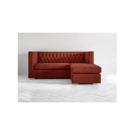 image-James Three-Seater Chaise Sofa in Brick Dust
