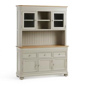image-Natural Oak and Painted Dressers - Large Dresser - Brindle Range - Oak Furnitureland