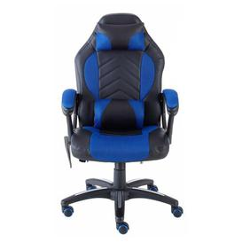 image-DeBarros Upholstered Gaming Chair Wade Logan Upholstery Colour: Blue