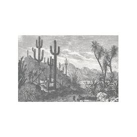 image-The Oasis Wall Mural (colour: Monochrome, size: Small (150w x 300h))