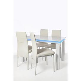 image-LED High Gloss 5 Piece Dining Set