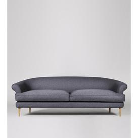 image-Swoon Rennes Three-Seater Sofa in Anthracite Smart Wool With Light Feet