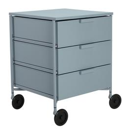 image-Kartell - Mobil Mat 3 Drawer Wheels - Pale Blue