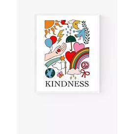 image-Kid of the Village - 'Kindness' Wood Framed Print, 52 x 42cm, Multi