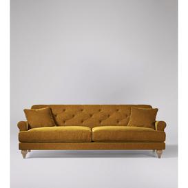 image-Swoon Sidbury Three-Seater Sofa in Turmeric Smart Wool With Short Light Feet