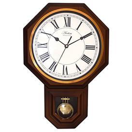 image-Woodstock Wood Effect Pendulum Wall Clock