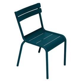 image-Luxembourg Kid Children's chair - / Stackable - Metal by Fermob Acapulco blue