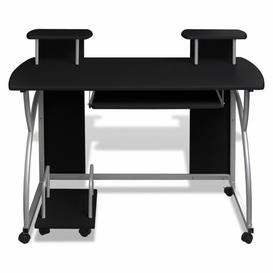 image-Leong Computer Desk Ebern Designs Colour: Black