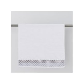image-Circles Jacquard White Towel White