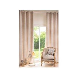 image-Single Beige Eyelet Curtain 130x300