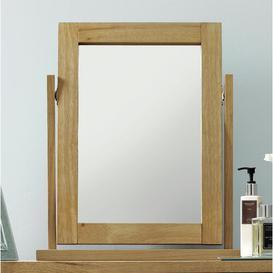 image-Cillian Rectangular Dressing Table Mirror August Grove Colour: Light Oak