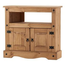 image-Corona Corner TV Stand Natural