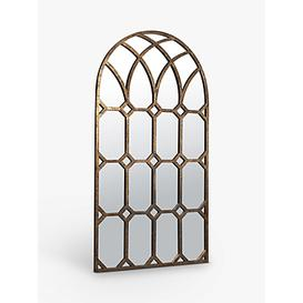 image-Khadra Arched Window Wall Mirror, 160 x 80cm, Gold