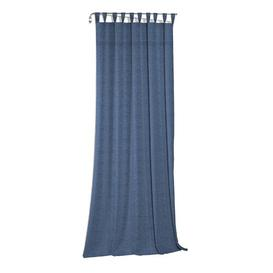 image-Lord Tab Top Room Darkening Single Curtain Mercury Row Curtain Colour: Blue, Size: 150 W x 175 D cm