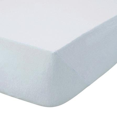 image-Kids Non Iron Plain Dye Pale Blue Cot Bed Fitted Sheet Pale Blue
