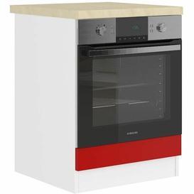 image-Trenta Kitchen Pantry Ebern Designs Finish: Beige/Matt Red