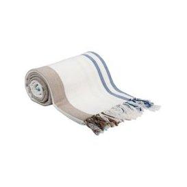 image-Cotton Blanket with Stripe Print 160x210