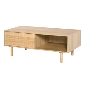 image-Camella Solid Wood Coffee Table with Storage