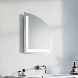 image-Gabriella LED Illuminated Bathroom Mirror Wade Logan Size: 80cm H x 66cm W x 3.2cm D