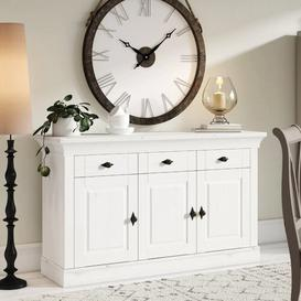 image-Kelly Sideboard August Grove Colour: Stained and varnished white/White