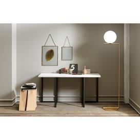 image-Flap Transforming Console - Dining Table 130 cm , Light Grey
